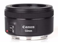 THE CANON EF 50MM F/1.8 STM LENS