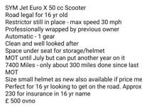 Jet Euro x 50 cc scooter