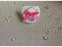 Baby's Diamanté Bow Dummy