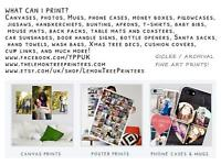 Fine Art Printer offering Posters, Photos, Canvases plus more!
