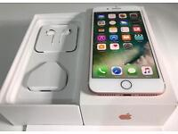 iphone 7plus 32GB rose gold Locked on EE, new, 1 year appl warranty!