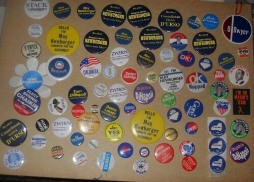 cOLLECTION 200+ political campaign buttons lotpins/pinbacks NY area Clinton Gore
