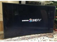 55in Curved Samsung SUHD 4K Nano Crystal 3D WiFi - Freeview/Sat HD Ultra HD LED TV [NO STAND]