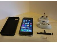 Apple iPhone 5s - 16GB - Space Grey (O2) Smartphone , All Working and Updated