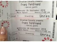 2 tickets for Franz Ferdinand at Roundhouse, London