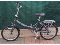 RALEIGH FOLDING UNISEX FOLDING BICYCLE IN CLEAN LITTLE USED CONDITION ONLY £140 CAN DELIVER