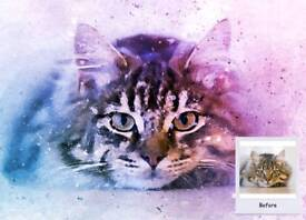 Pet Portrait from Your Photo