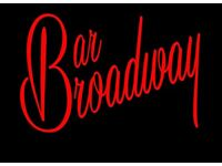 2 Weekend Bartenders required for Busy Musical Theatre Bar