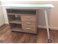 Rotating Computer Desk - Glass Top - Like New - Price reduced!