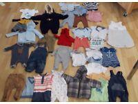 A huge baby boy bundle 0-6 months. Coat, Christmas outfit, sleeping bag, snowsuit