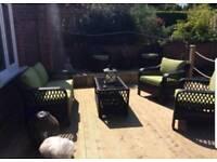 Rattan 4 peice sumatra deluxe garden sofa set