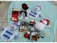 Christmas lot teddy calandar figure toy