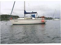 29Ft yacht for sale 3 cyl 20 hp diesel r/r jib and lazyjacks