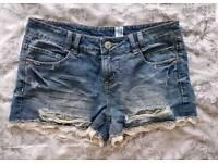 Womens denim shorts