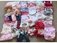 Baby girls clothing bundle 0-3months