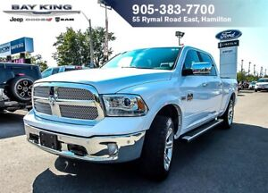 2016 Ram 1500 LONGHORN, 4X4, GPS NAV, SUNROOF, 8.4 DISPLAY, SID