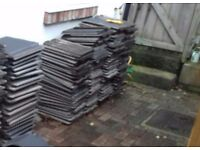 Charcoal roof tiles