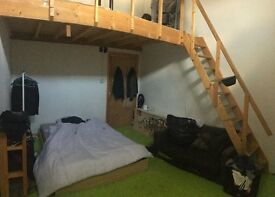 Huge double height double room with with large mezzanine in Manor House warehouse