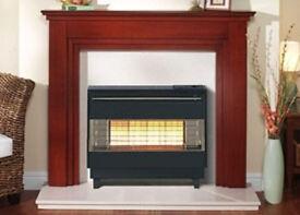 RobinsonWilley FireGem Visa Highline Gas Fire in Black/Brass Brand new in box