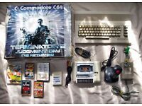 Boxed commodore 64 C64 Terminator 2 pack with tape deck, joystick and games!!!