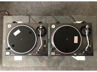 A pair of mint Technics SL 1210 MK2 Turntables with numark stylus
