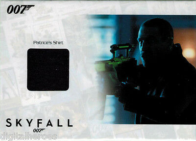 James Bond Autograph & Relic Skyfall SSC18 Costume Card Ola Rapace as Patrice - Skyfall Costumes