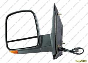 Door Mirror Power Driver Side Heated With Signal Manual Folding Textured Dual Gls Chevrolet Express Van 2008-2015