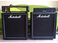 Marshall 3520, 200 Watt Integrated Bass amp (BI) + 2x 15Inch Marshall M1550 250rms cabs