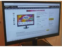 Computer Monitor (AOC, 24Inch FHD, 60Hz, 5ms, MVA, Speakers, 250cd/m², HDMI 1.4x2/VGA)