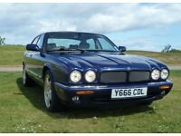 Jaguar XJR 4.0 auto 2001 with R1 pack, 370bhp blue/oatmeal