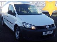 VW Volkswagen caddy van, 2012, 70000 miles, white, side loading door, CD player, aux input