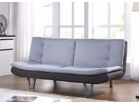 Charcoal Fabric Sofa Bed - 3 seater