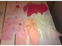 Bundle of Pink Designer Baby Clothes and Shoes - Excellent Condition