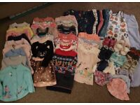 60 piece 12-18 month old baby girl clothes bundle toddler