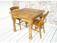 Folding, Ergonomic, Space Saving, Extendable Extending Rustic Farmhouse Dining Table Set Drop Leaf