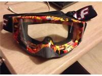 wulf motocross goggles !!