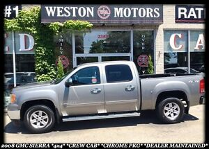 2008 GMC Sierra 1500 SLE *4X4 *CREW CAB *DEALER MAINTAINED