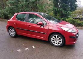 peugeot 207 1.6 tdi full panoramic roof 30 road tax