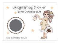 25 Personalised Baby Shower, Christening, Party, Scratch Off Card/game/neutral - handmade - ebay.co.uk