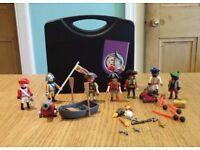 Playmobil Pirate Carry Case plus extra pirates