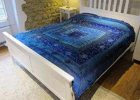 Beautiful Bohemian Silk Double Embroidered Bedspread Throw Wallhanging