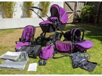 Silver Cross Pioneer Travel system - Pram, pushchair, car seat, extras