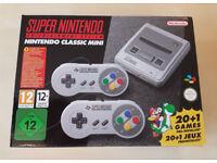 Classic Mini Super Nintendo SNES - brand new in box - Perfect Xmas present