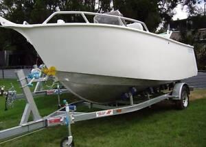 2017 Noble 5 meter aluminium plate boat & Swiftco trailer Springwood Logan Area Preview