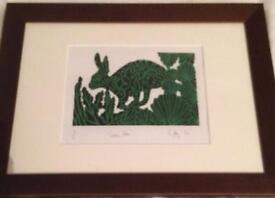 Cally Conway Green Hare Print