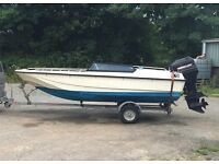 Shetland Stratos with 75hp Mercury outboard, speed boat