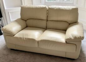 2 Seater Leather Look Sofa