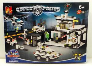 VENTE DE SETS DE BLOCS 100% COMPATIBLES AVEC LEGO - POSTE DE POLICE STATION 890 BLOCS - SAINT-CONSTANT