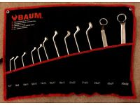 12pc Professional deep offset ring spanner set 6-32 MM in a Heavy duty Case