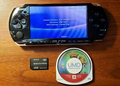 Sony PSP 3000 Black, New Battery, 4gb Memory Card, PROMOD 6.61 Installed